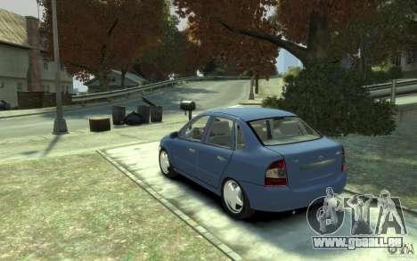 Lada VAZ 1118 Kalin für GTA 4 hinten links Ansicht