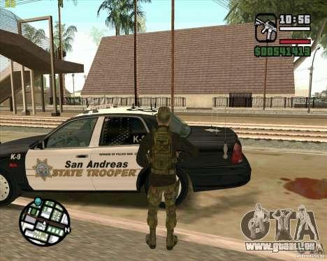 Praice peau de COD 4 pour GTA San Andreas cinquième écran