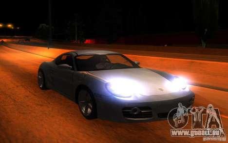 Porsche Cayman S pour GTA San Andreas vue intérieure