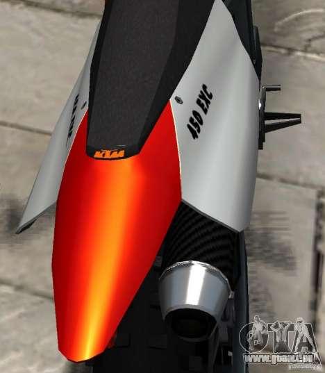KTM EXC 450 für GTA 4 Seitenansicht