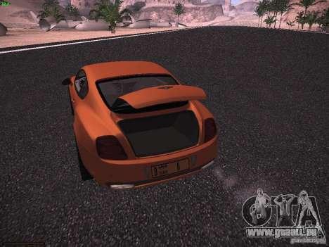 Bentley Continetal SS Dubai Gold Edition pour GTA San Andreas vue de côté