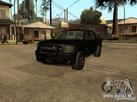 Chevrolet Avalanche Police pour GTA San Andreas