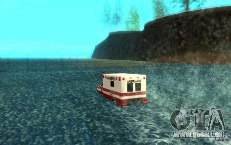 Ambulan boat für GTA San Andreas zurück linke Ansicht