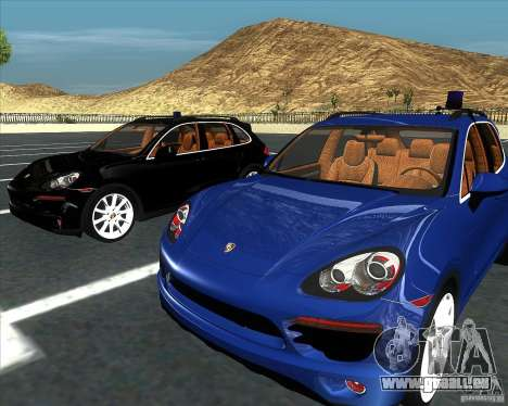 Porsche Cayenne 958 v1.1 für GTA San Andreas zurück linke Ansicht