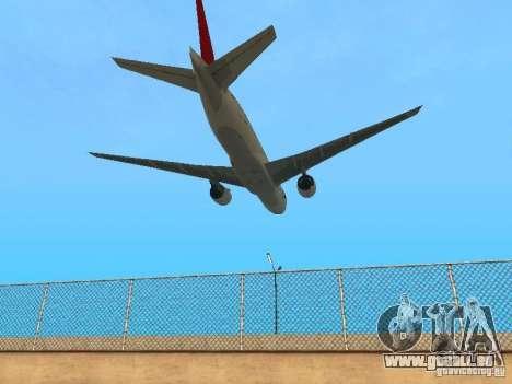 Boeing 777-200 Japan Airlines für GTA San Andreas Rückansicht