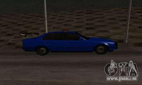 BMW M5 POLICE pour GTA San Andreas laissé vue