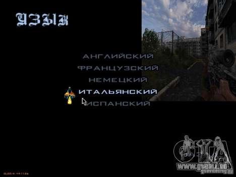 Menu principal-style Stalker pour GTA San Andreas quatrième écran