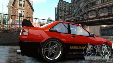 Futo GTRS pour GTA 4 Vue arrière de la gauche