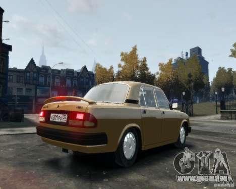 Volga gaz 3110 pour GTA 4 est un droit