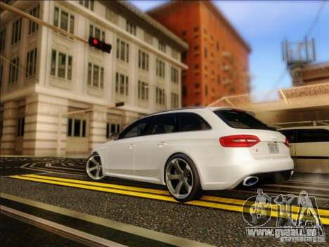 Audi RS4 Avant B8 2013 für GTA San Andreas zurück linke Ansicht