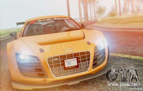 Audi R8 LMS GT3 pour GTA San Andreas vue intérieure