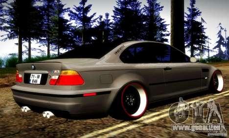 BMW M3 JDM Tuning pour GTA San Andreas vue de droite