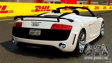 Audi R8 GT Spyder 2012 für GTA 4 hinten links Ansicht