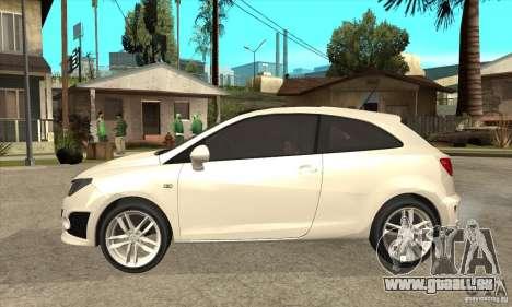 Seat Ibiza Cupra 2009 pour GTA San Andreas laissé vue