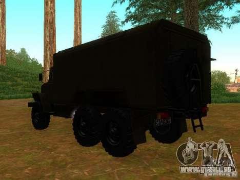 Ural Kung 4320 pour GTA San Andreas sur la vue arrière gauche