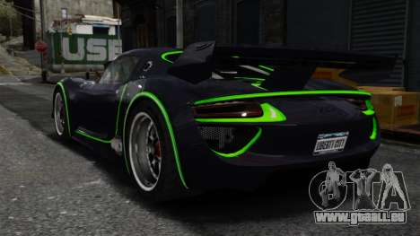 Porsche 918 RSR Concept pour GTA 4 Vue arrière de la gauche