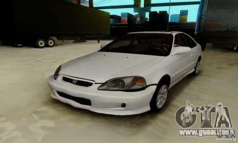 Honda Civic 1999 Si Coupe pour GTA San Andreas vue de dessous