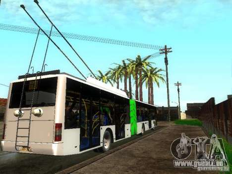Trolleybus LAZ E301 für GTA San Andreas rechten Ansicht