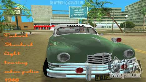 Packard Standard Eight Touring Sedan Police 1948 pour GTA Vice City