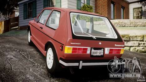 Volkswagen Rabbit 1986 pour GTA 4 Vue arrière de la gauche