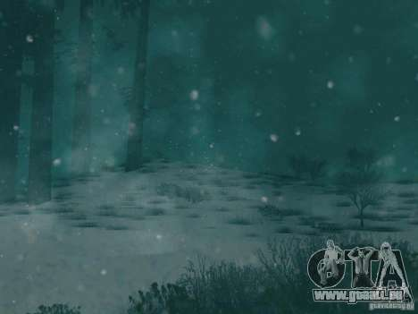 Chute de neige pour GTA San Andreas troisième écran