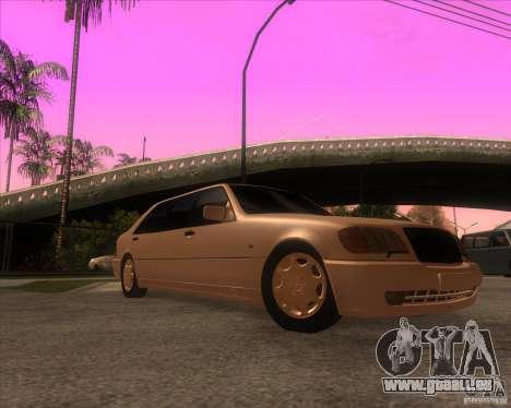 Mercedes-Benz S600 Limo pour GTA San Andreas vue arrière