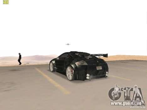 Mitsubishi Eclipse GT NFS-MW pour GTA San Andreas vue de droite