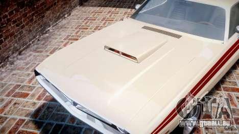 Dodge Challenger 1971 RT pour GTA 4 vue de dessus