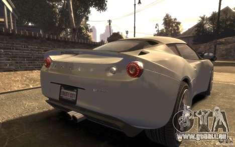 Lotus Evora 2009 pour GTA 4 est une gauche