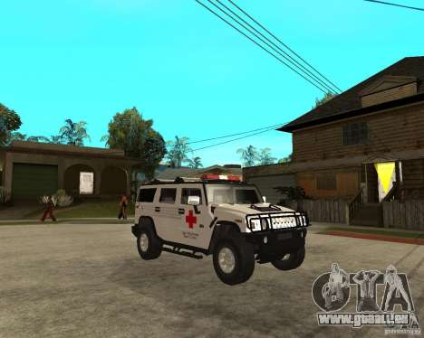 AMG H2 HUMMER - RED CROSS (ambulance) pour GTA San Andreas vue de droite
