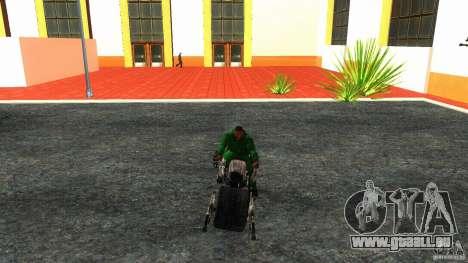 Batpod HQ pour GTA San Andreas vue arrière