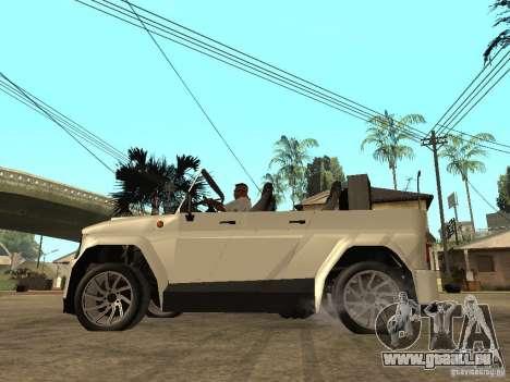 Uaz Cabriolet pour GTA San Andreas laissé vue