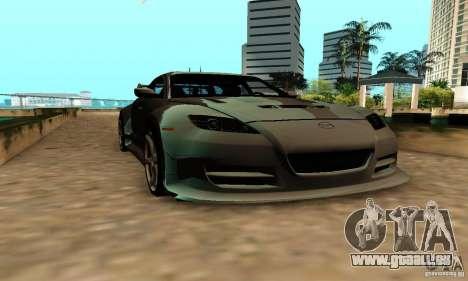 Mazda RX-8 pour GTA San Andreas vue de droite