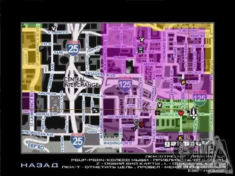 Karte mit Straßennamen für GTA San Andreas
