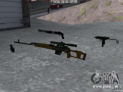 Pak version domestique armes 4 pour GTA San Andreas