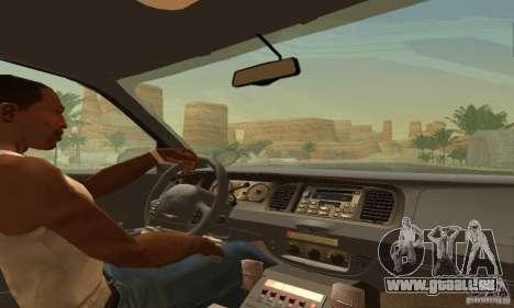 Ford Crown Victoria Ohio Police pour GTA San Andreas sur la vue arrière gauche