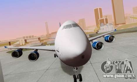 Boeing 747-8F für GTA San Andreas rechten Ansicht