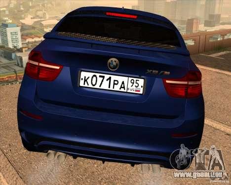 BMW X6 M E71 für GTA San Andreas obere Ansicht