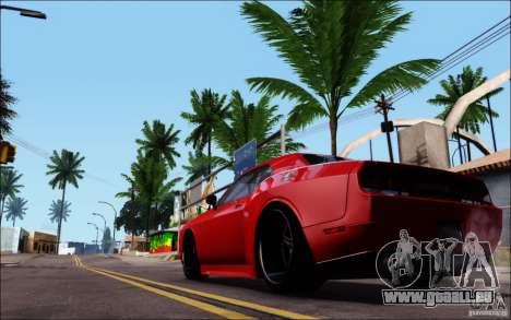 Dodge Challenger Rampage Customs pour GTA San Andreas sur la vue arrière gauche