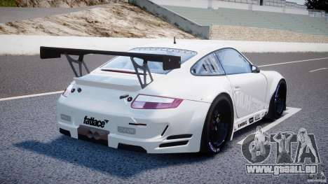Porsche GT3 RSR 2008 SpeedHunters pour GTA 4 vue de dessus