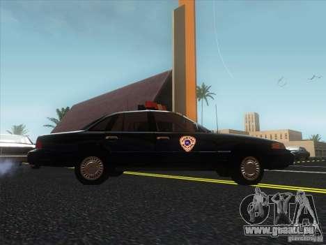 Ford Crown Victoria 1992 Detroit OCP pour GTA San Andreas vue de droite