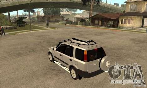 Honda CRV 1997 für GTA San Andreas zurück linke Ansicht