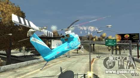 NYPD Bell 412 EP pour GTA 4 est une vue de dessous