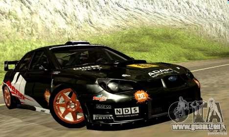 Subaru Impreza WRC 2007 für GTA San Andreas Innenansicht