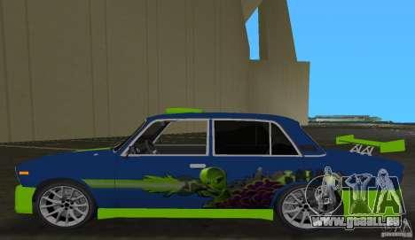 VAZ 2106 Tuning v3.0 pour GTA Vice City sur la vue arrière gauche