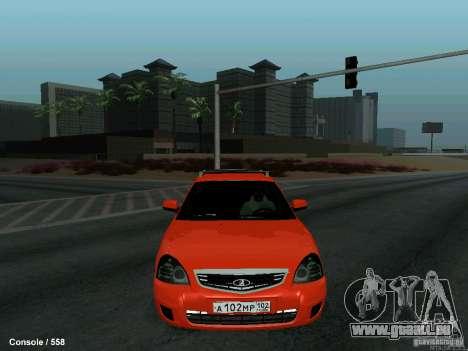 LADA 2170 102-RUS pour GTA San Andreas vue intérieure