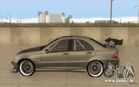 Mercedes-Benz C32 AMG Tuning pour GTA San Andreas laissé vue