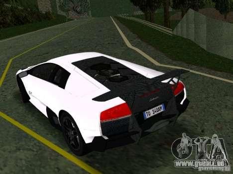 Lamborghini Murcielago LP670-4 sv für GTA San Andreas rechten Ansicht