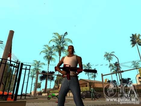 Red Chrome Weapon Pack für GTA San Andreas zweiten Screenshot