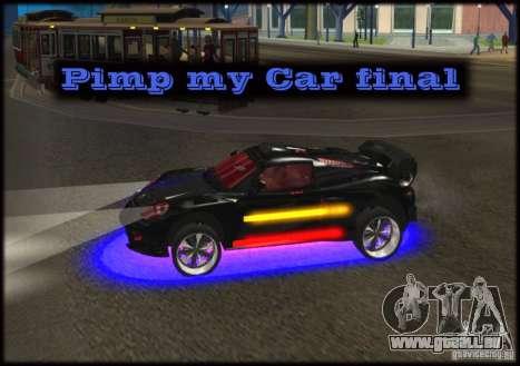 Pimp my Car Final pour GTA San Andreas